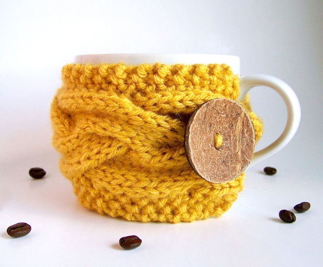 Download Cup Cozy, Coffee Sleeve - Knitting Patterns immediately at Makerist
