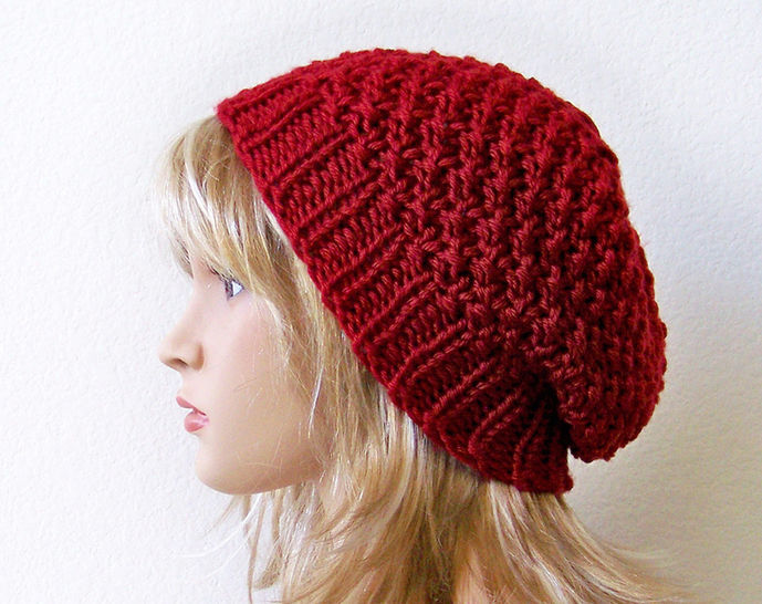 Download Slouchy Hat, Slouchy Beanie - Knitting Patterns immediately at Makerist