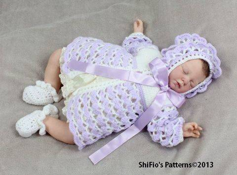 Download CP14 Athena Rose Jacket, Hat & Shoes Baby Crochet Pattern #14 immediately at Makerist