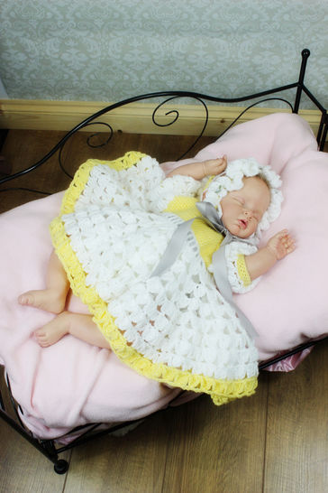 Download CP15 Spring Rose Baby Dress & Hat Crochet Pattern #15 - Crochet Patterns immediately at Makerist