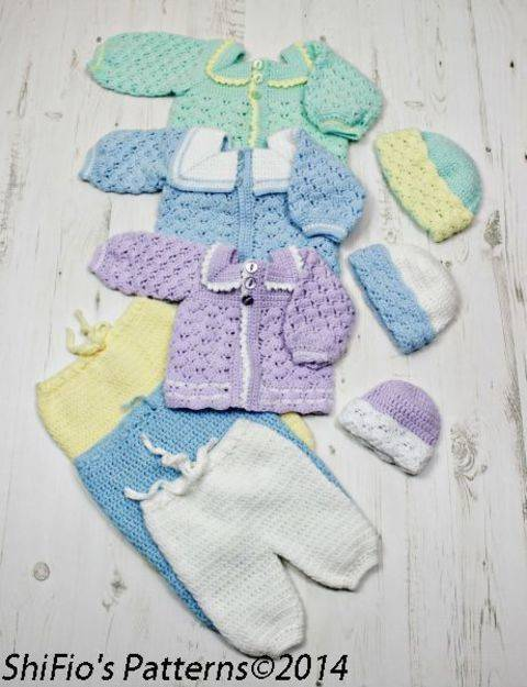 Download CP17 Baby Sailor Boy Suit, Pants, Jacket, Beanie in 3 Sizes Crochet Pattern #17 immediately at Makerist