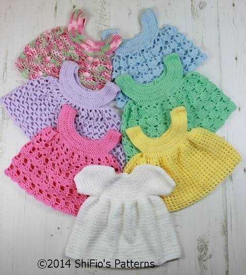 Download CP20 Baby Dress and 6 Aprons Baby Crochet Pattern #20 immediately at Makerist