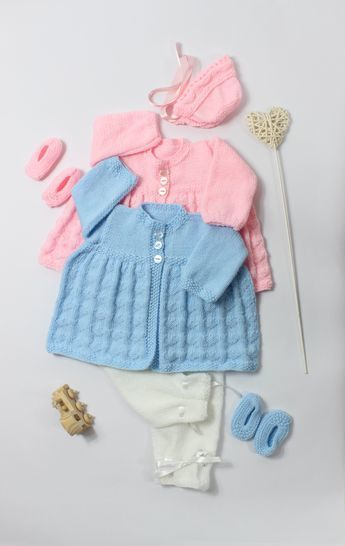 Download KP29 Lovehearts Jacket, Trousers/Pants,Bonnet & Shoes Knitting Pattern #29 - Knitting Patterns immediately at Makerist