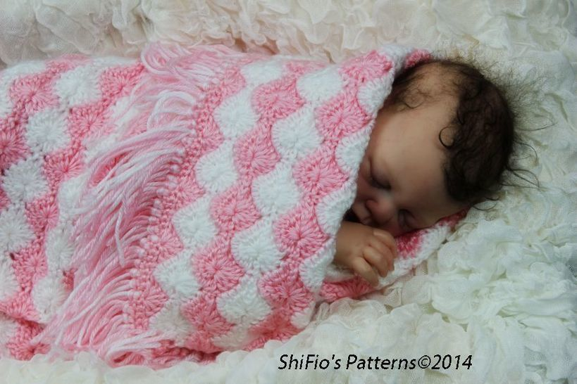 Download CP37 Shelly Baby, Pram, Cot, Blanket, Afghan Baby Crochet Pattern #37 - Crochet Patterns immediately at Makerist