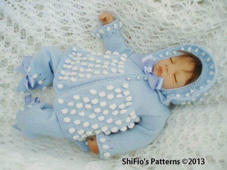 Download KP54 Bobble Jacket, Bonnet/Hat, Trousers/Pants & Booties Baby Knitting pattern #54 - Knitting Patterns immediately at Makerist