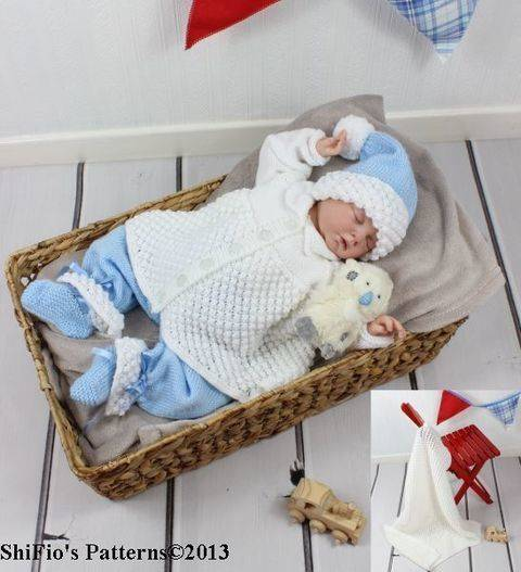 Download KP69 Trousers, Jacket, Hat, Bootees & Blanket Baby Knitting Pattern #69 immediately at Makerist