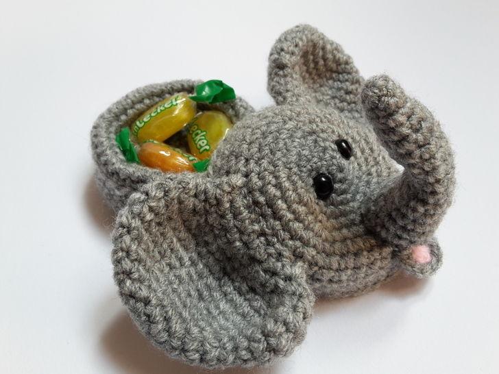 Elefantenkopf mit Geschenkeversteck / Größe S – Häkelanleitung - Häkelanleitungen bei Makerist sofort runterladen