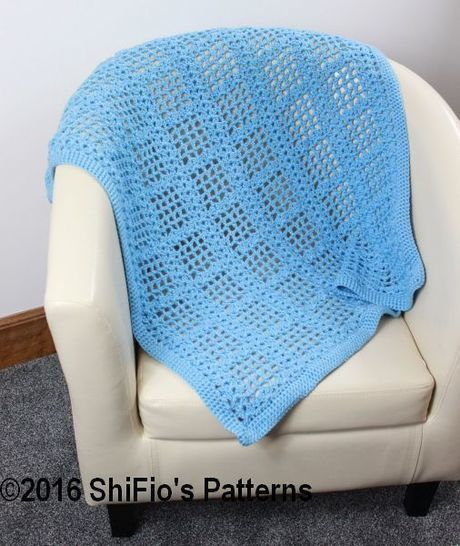 Download CP346  Baby Afghan Blanket Crochet Pattern #346 - Crochet Patterns immediately at Makerist