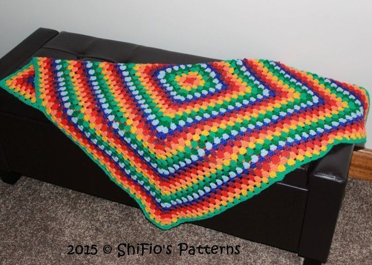 Download CP338 Granny Square Afghan Crochet pattern #338 - Crochet Patterns immediately at Makerist