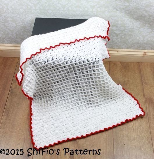 Cp326 Waffle Stitch Baby Afghan Blanket Crochet Pattern 326