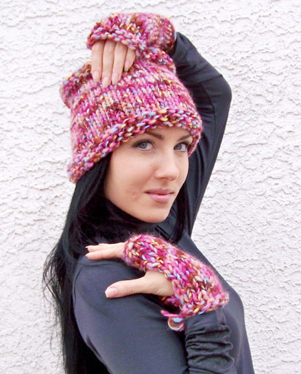 Download Cowl Scarf, Neck Warmer, Fingerless Gloves, Mittens - Knitting Patterns immediately at Makerist