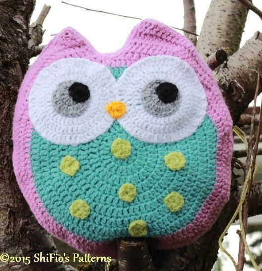 Download CP321 Worsted Aran, Animal Cushion, Pillow,Owl, Ollie Owl Crochet Pattern #321 - Crochet Patterns immediately at Makerist