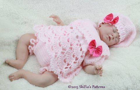 CP319 Sailor Angel Top, Pants, Beret in 3 Sizes Baby Crochet Pattern #319 at Makerist