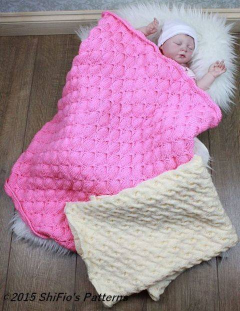 Butterfly Baby Blanket Knitting Pattern : Knitting Patterns