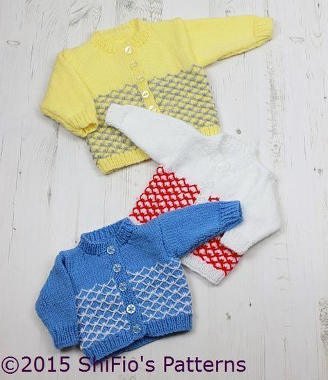 Download KP314 Royal Quilting Baby Cardigans in 3 Sizes Knitting Pattern #314 - Knitting Patterns immediately at Makerist