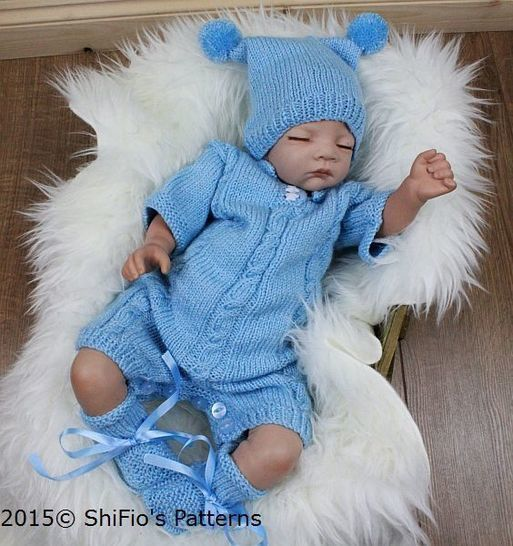Download KP312 Boys Romper Suit, Onesie, 0-3mths,Baby Knitting Patterns, #312 - Knitting Patterns immediately at Makerist