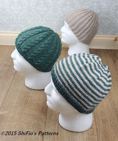 KP310 Mens Hats Pattern, beanies, cable beanie, ribbed beanie, striped b...