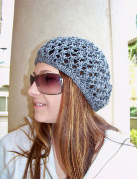Download Slouchy Hat, Slouchy Beanie, Womens Hat, Knit Hat, Mesh Hat - Knitting Patterns immediately at Makerist