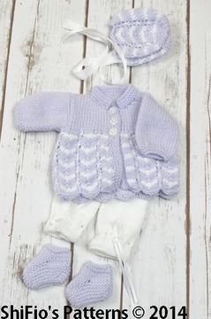 """Download KP75 Waves Jacket, Trousers, Hat & Shoes in 2 Sizes 10-16""""  Knitting Pattern #75 - Knitting Patterns immediately at Makerist"""