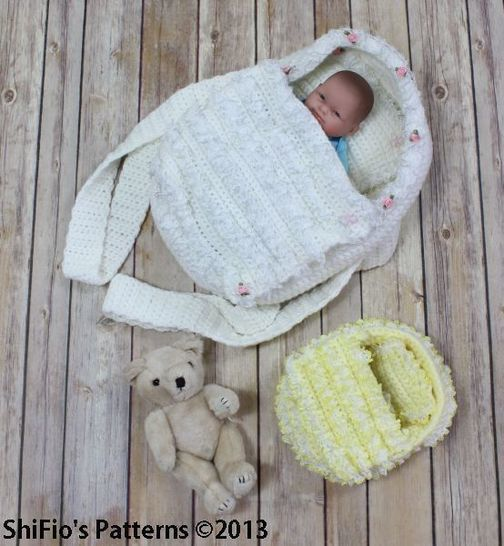 Download CP77 Doll, Itty Bitty, Carry Cot Moses Basket Crochet Pattern #77 - Crochet Patterns immediately at Makerist