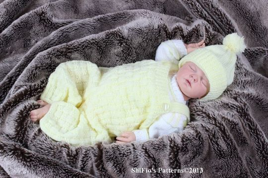Download KP91 Dungarees, Jumper& Hat Baby Knitting Pattern #91 - Knitting Patterns immediately at Makerist