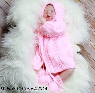 Download KP99 Baby Jacket, Hat & Booties in 2 Sizes Knitting Pattern #99 - Knitting Patterns immediately at Makerist