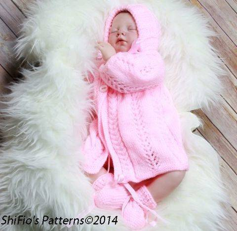 Download KP99 Baby Jacket, Hat & Booties in 2 Sizes Knitting Pattern #99 immediately at Makerist