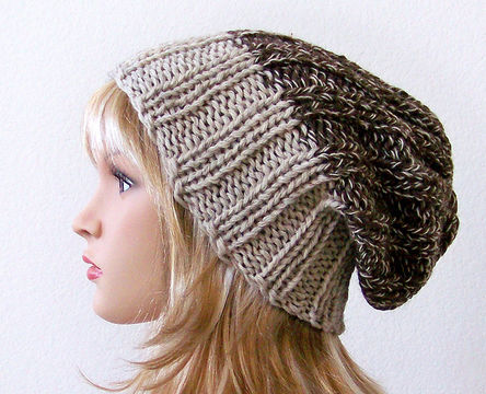 Download Slouchy Beanie, Slouchy Hat, Winter Hat - Knitting Patterns immediately at Makerist