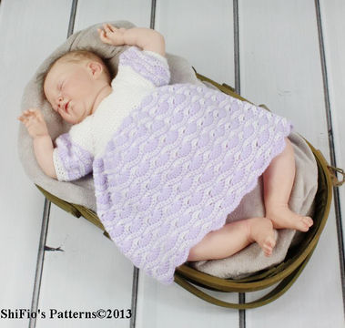 Download CP107 Baby Dress 5 Sizes 0-18months Crochet Pattern #107 - Crochet Patterns immediately at Makerist