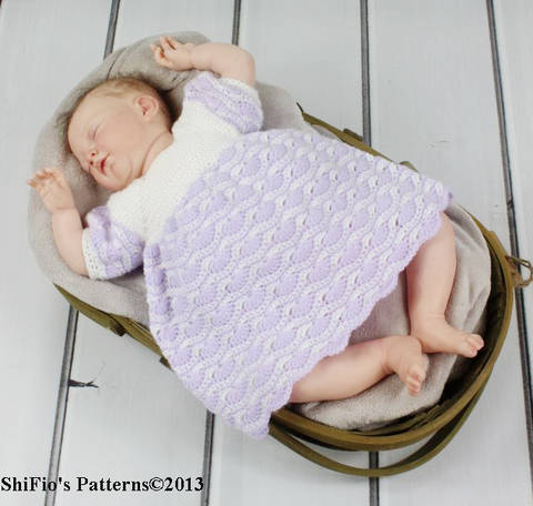 Download CP107 Baby Dress 5 Sizes 0-18months Crochet Pattern #107 immediately at Makerist