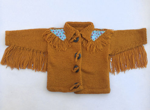Download Baby Knitted Fringed Jacket - Knitting Patterns immediately at Makerist