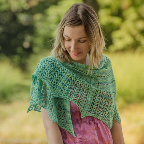 Strickanleitung Tuch Tropical Morning bei Makerist sofort runterladen