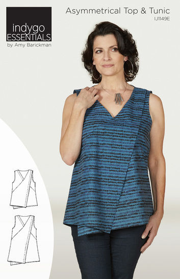 Download Indygo Essentials - Asymmetrical Top & Tunic - Sewing Patterns immediately at Makerist