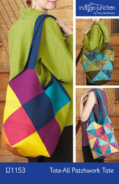 Download Tote-All Patchwork Tote Bag - Sewing Patterns immediately at Makerist