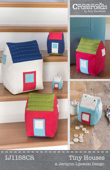 Download Tiny Stuffed Houses - pillow, pincushion, door stop, home decor - Sewing Patterns immediately at Makerist