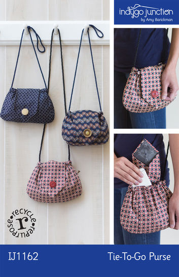 Download Recycled Tie-to-Go Purse Pattern - Sewing Patterns immediately at Makerist