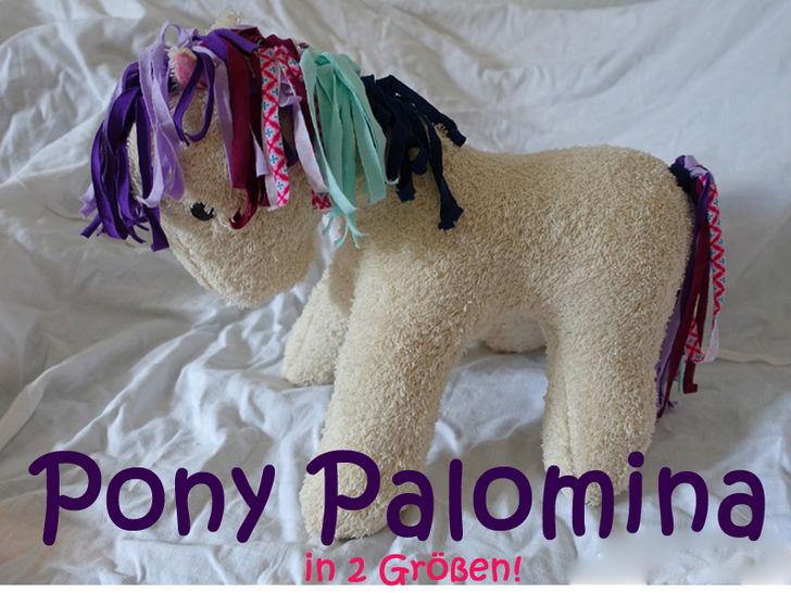 Stofftier Pony Palomina Kuscheltier Pferd Einhorn Pegasus - Nähanleitungen bei Makerist sofort runterladen