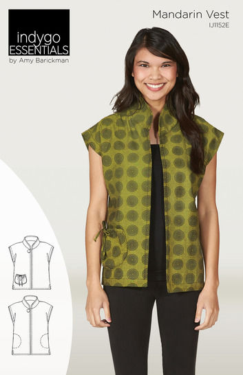 Download Indygo Essentials - Mandarin Vest - Sewing Patterns immediately at Makerist
