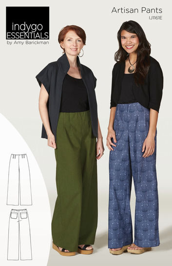 Download Indygo Essentials - Artisan Pants - Sewing Patterns immediately at Makerist