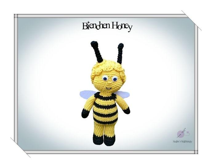 """Häkelanleitung: """"Das Bienchen Honey"""" - Häkelanleitungen bei Makerist sofort runterladen"""