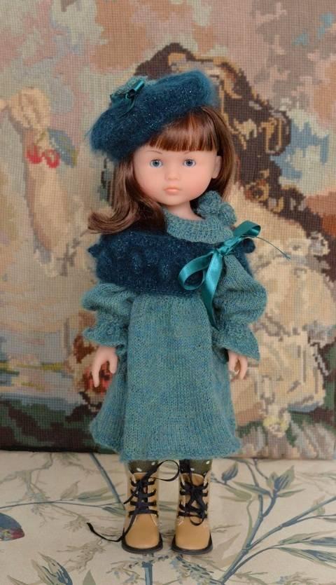 """Télécharger """"Douceur de Paon"""" Patron de tricot pour poupée de 27 à 32 cm type les Chéries de Corolle, Amigas de Paola Reina, et Minouche de Petitcollin cm type tout de suite sur Makerist"""