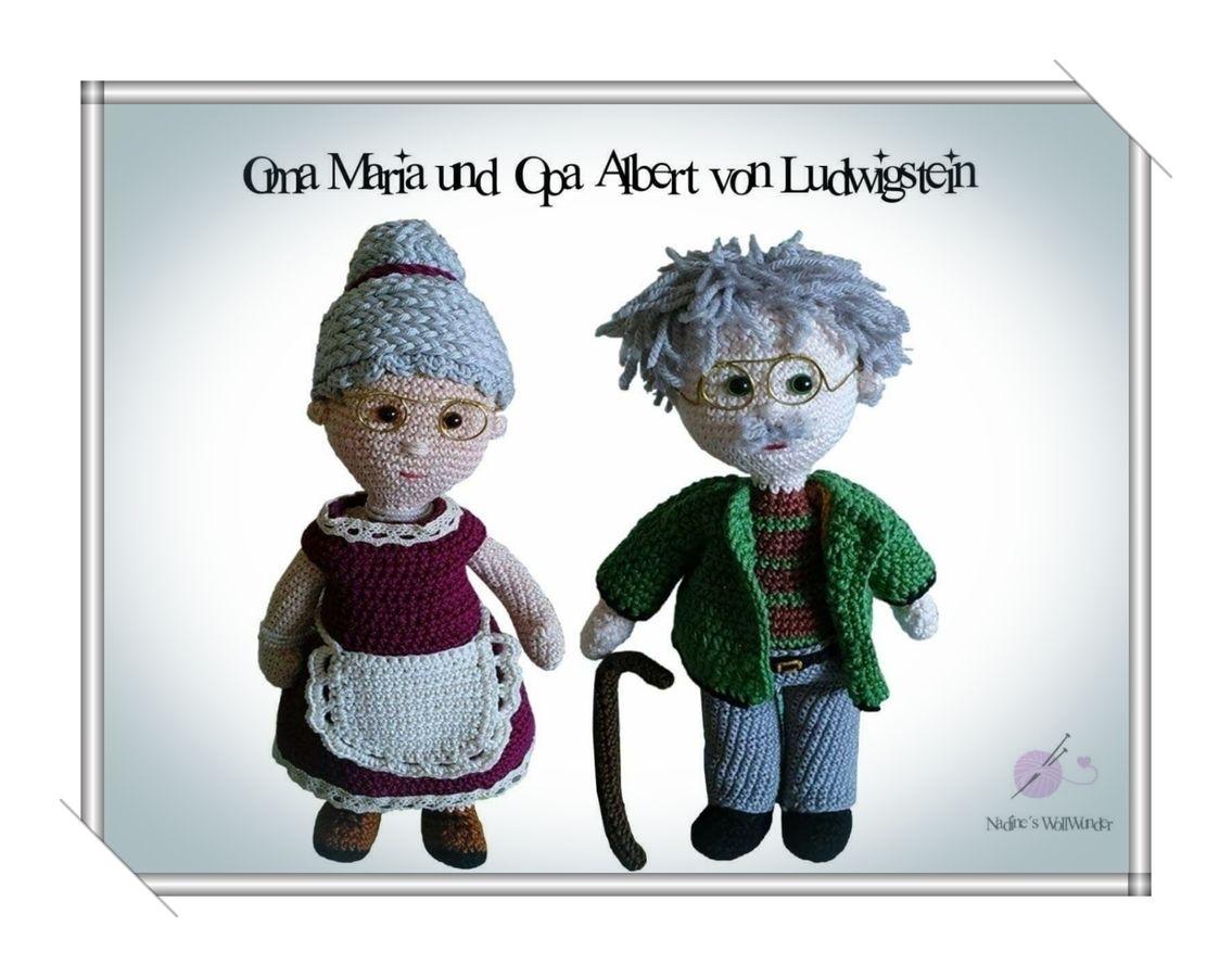Häkelanleitung: Opa Albert und Oma Maria von Ludwigstein