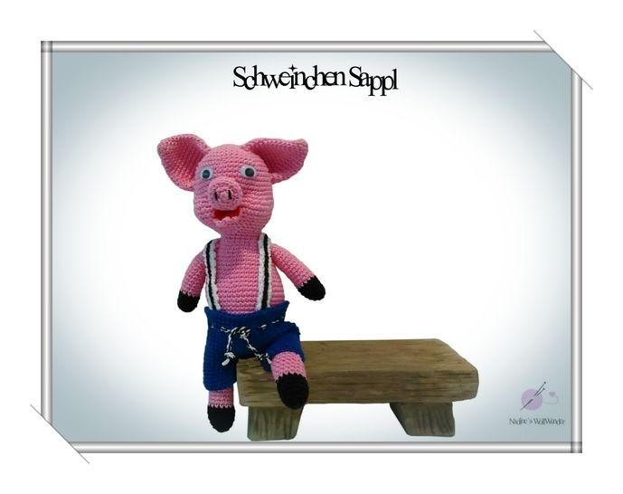 Häkelanleitung: Schweinchen Sappl - Häkelanleitungen bei Makerist sofort runterladen