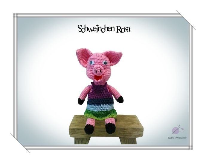 Häkelanleitung: Schweinchen Rosa - Häkelanleitungen bei Makerist sofort runterladen