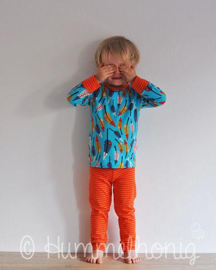 Pyjama (Gr. 92 - 140) Schnittmuster und Nähanleitung