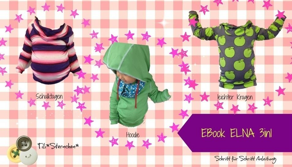 Ebook #6 Sweater ELNA 3in1 Schnittmuster PDF - Nähanleitungen bei Makerist sofort runterladen