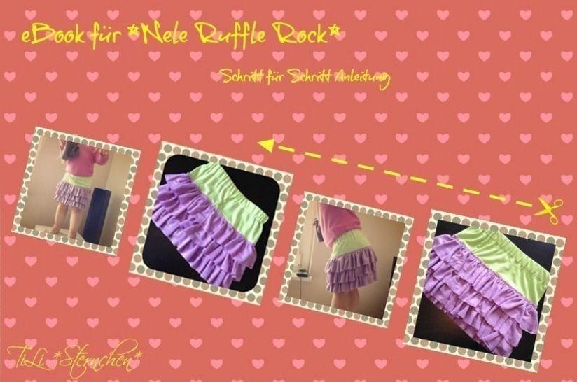 Ebook #3 NELE Ruffle Skirt PDF Schnittmuster - Nähanleitungen bei Makerist sofort runterladen