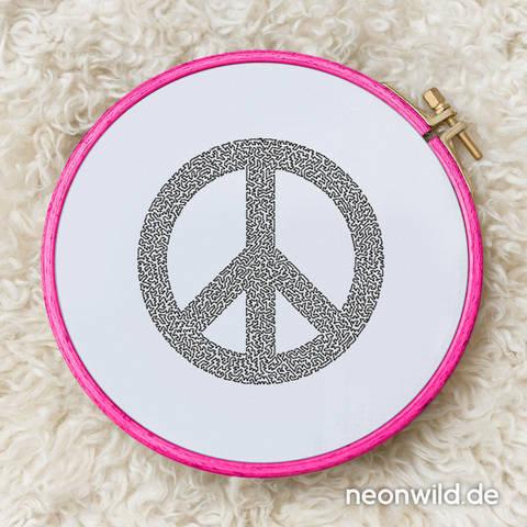 Stickdatei EEE - Peace 16x26 bei Makerist sofort runterladen