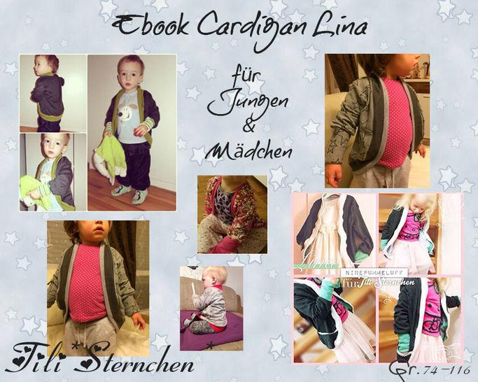 Ebook #5 Cardigan Lina Kids PDF Schnittmuster - Nähanleitungen bei Makerist sofort runterladen