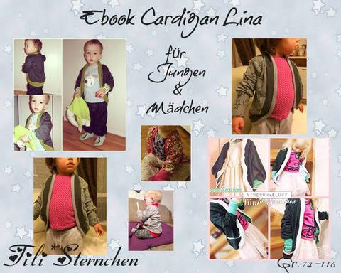 Ebook #5 Cardigan Lina Kids PDF Schnittmuster bei Makerist sofort runterladen